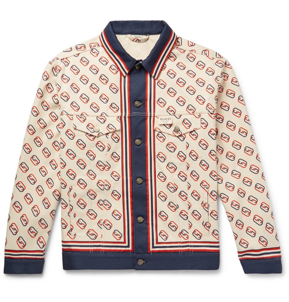 Photo: Gucci - Logo-Print Denim Jacket - Ivory