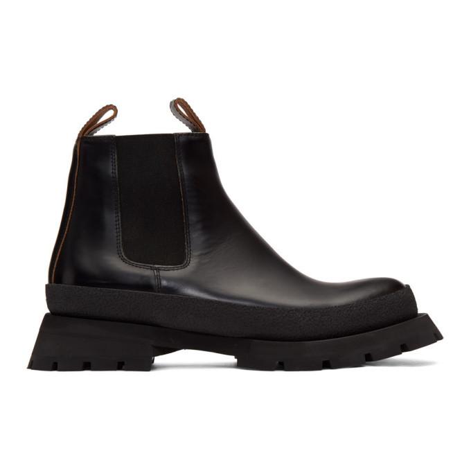 Photo: Jil Sander Black Rubber Sole Boots