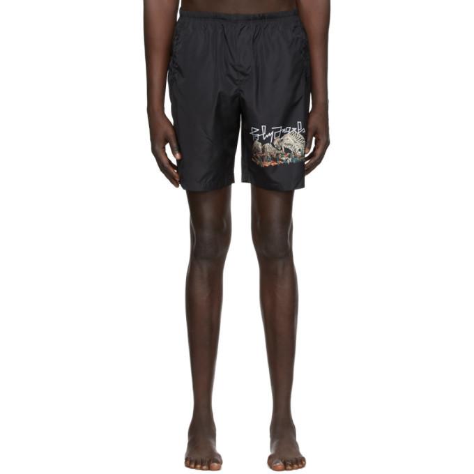 Photo: Palm Angels Black Desert Skull Swim Shorts