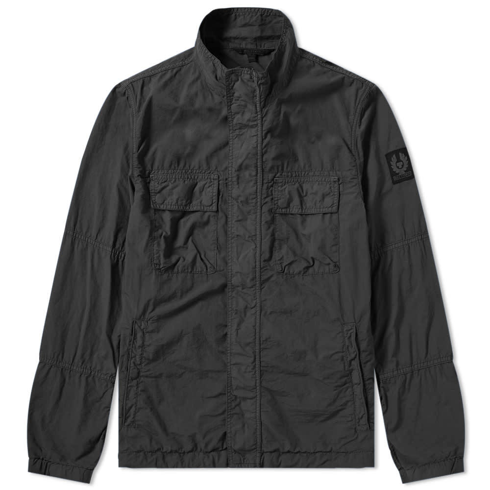Photo: Belstaff Erwin Garment Dyed Nylon Field Jacket Black