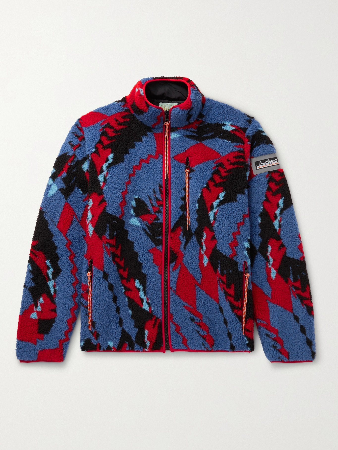 Photo: ARIES - Piped Printed Fleece Jacket - Multi