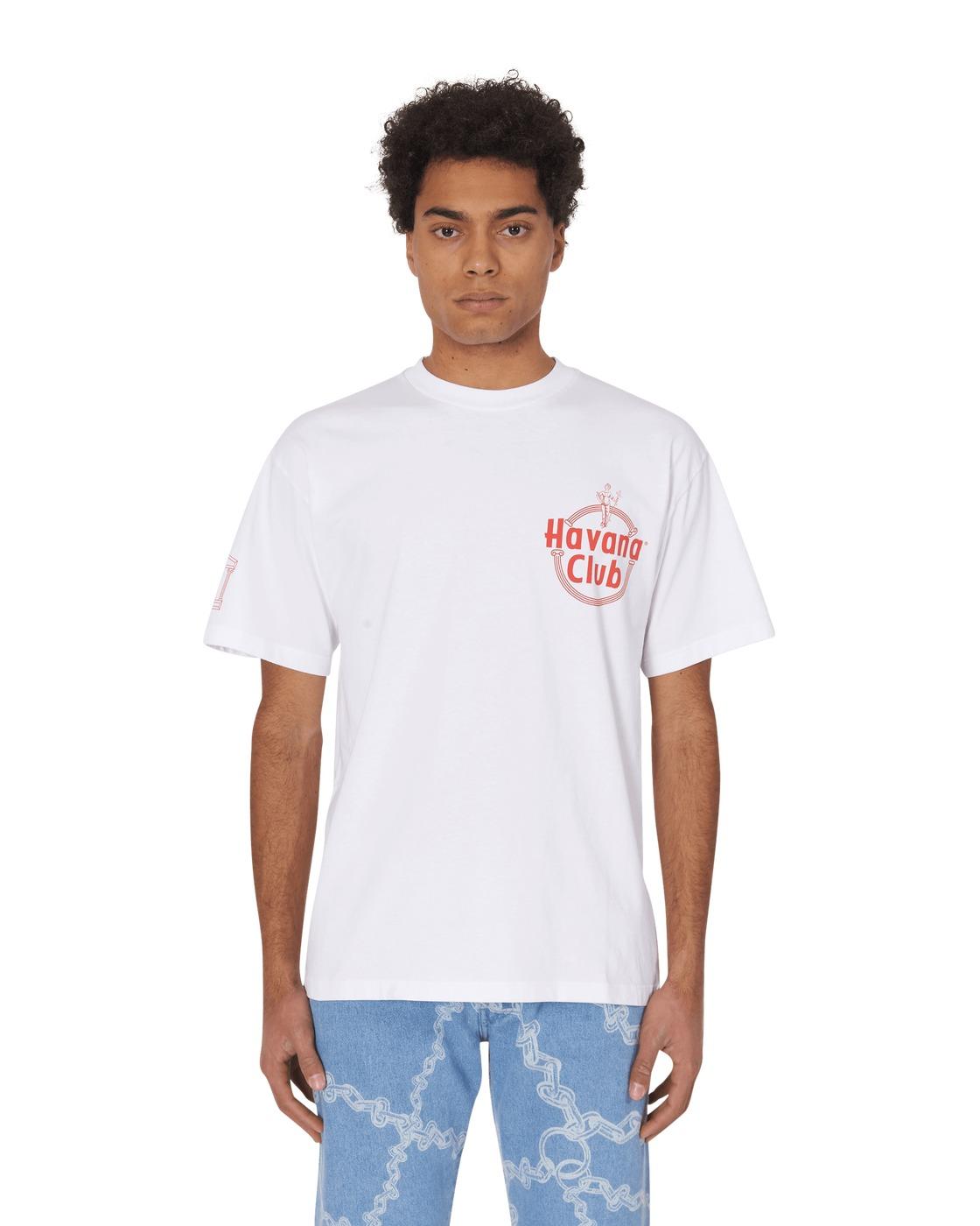 Aries Hav Club Logo T Shirt White