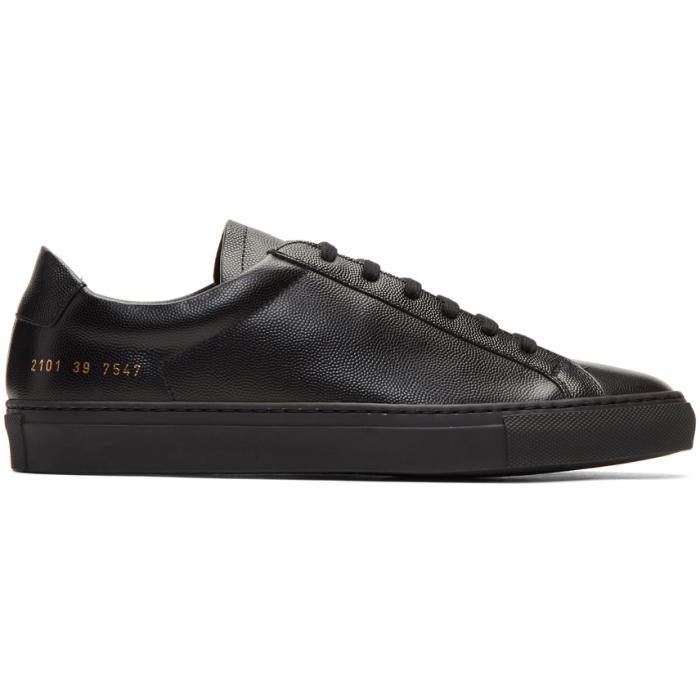 Common Projects Black Achilles Low Premium Sneakers