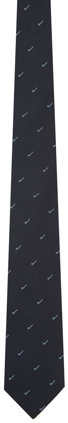 Dunhill Navy D Printed Tie