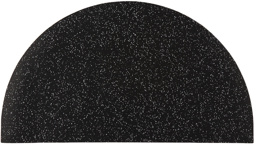 Slash Objects Black Half Circle Mat