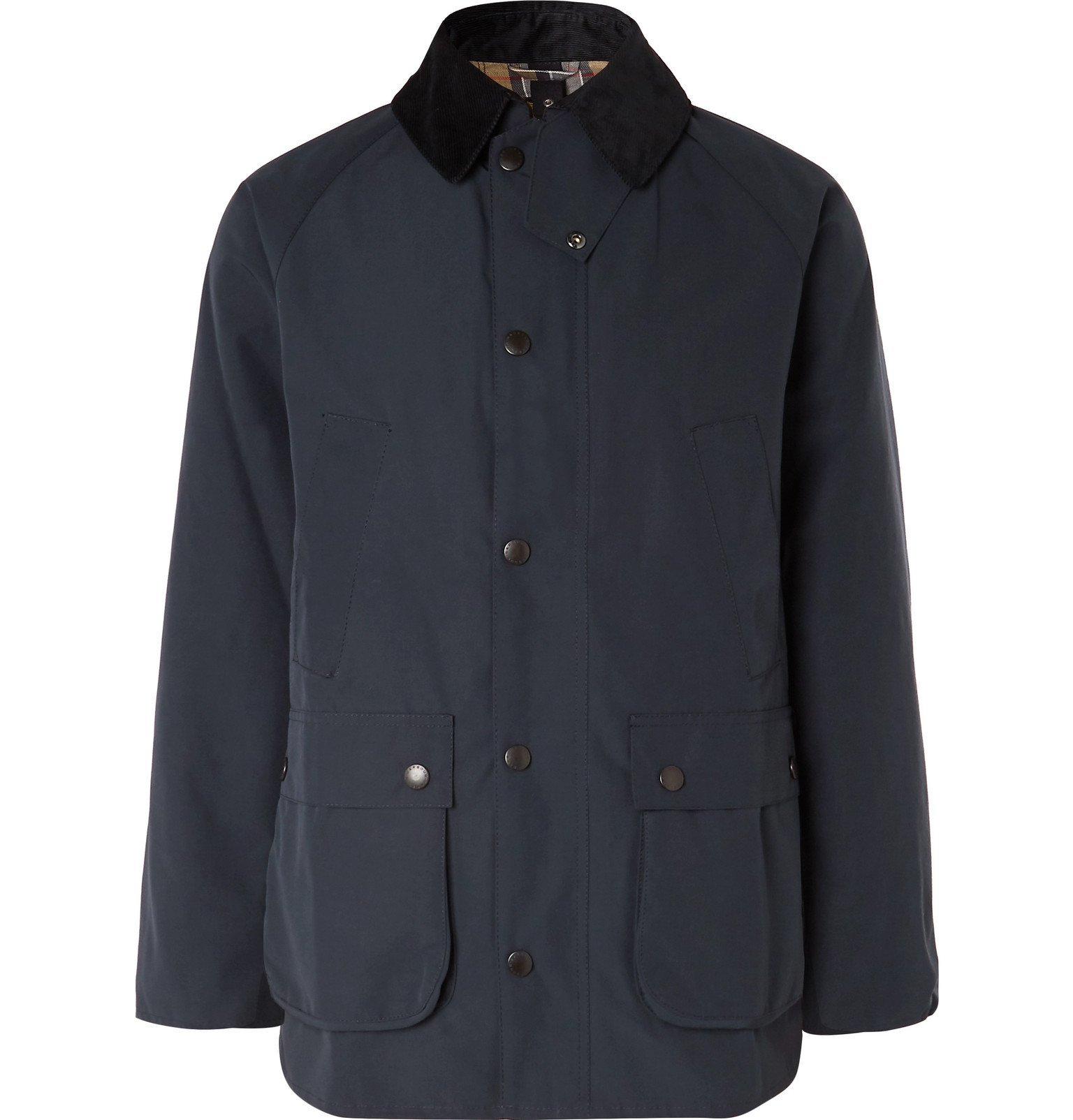 Photo: Barbour - White Label Bedale Corduroy-Trimmed Shell Jacket - Blue