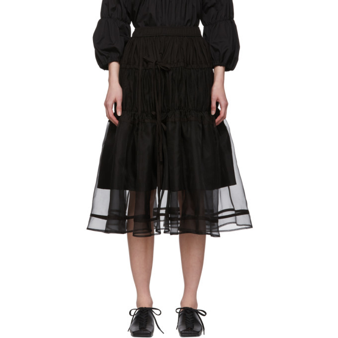 Photo: Renli Su Black Tiered Skirt