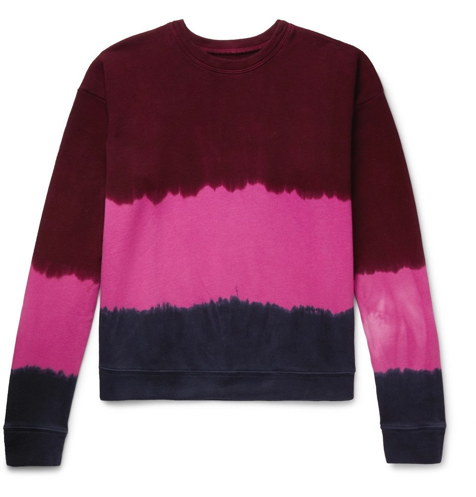 Photo: The Elder Statesman - Tie-Dyed Fleece-Back Cotton-Jersey Sweatshirt - Pink