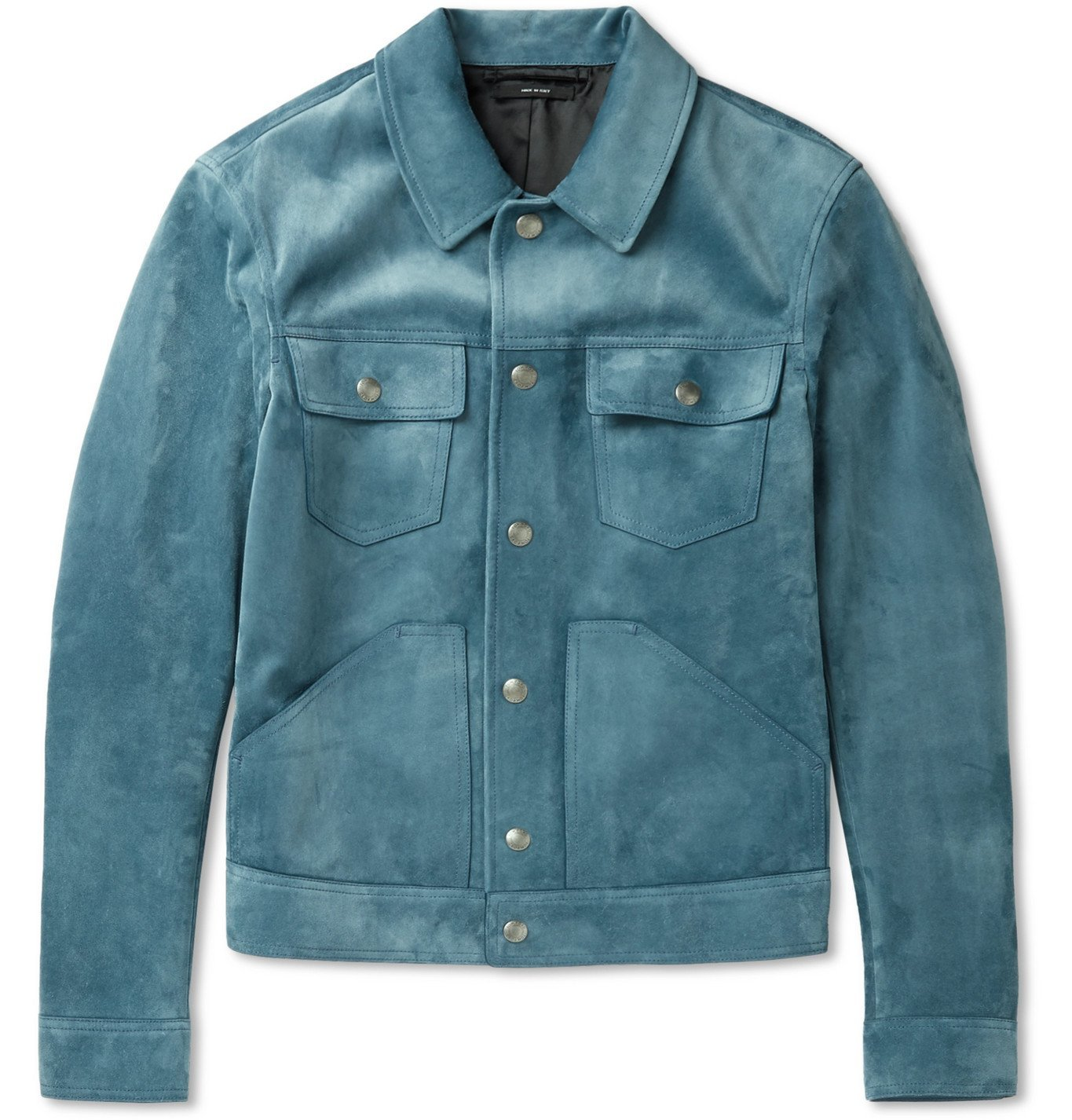 Photo: TOM FORD - Suede Blouson Jacket - Blue