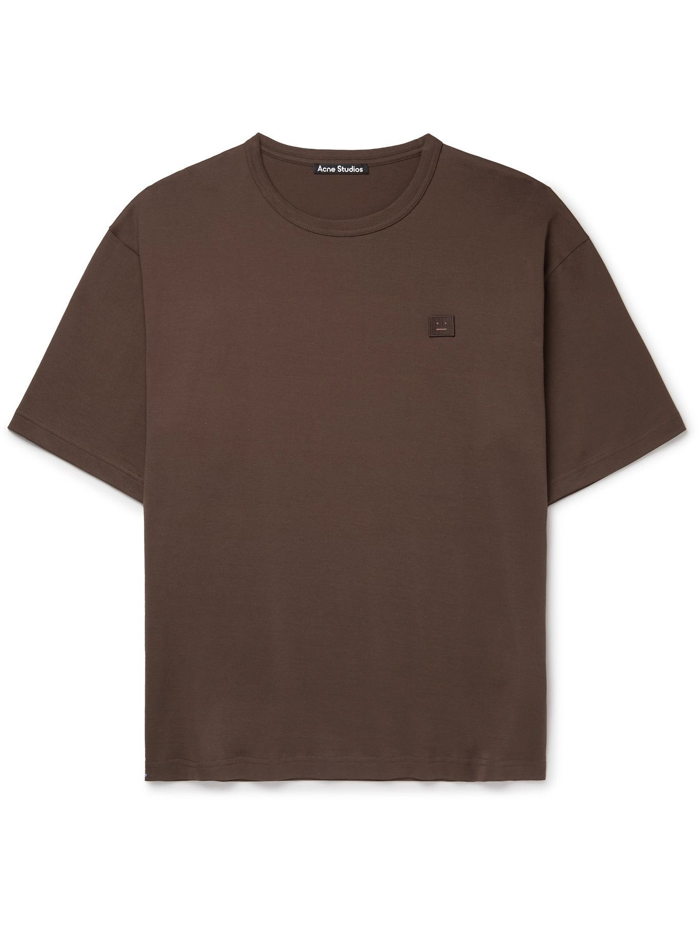 Photo: ACNE STUDIOS - Exford Oversized Logo-Appliquéd Cotton-Jersey T-Shirt - Brown