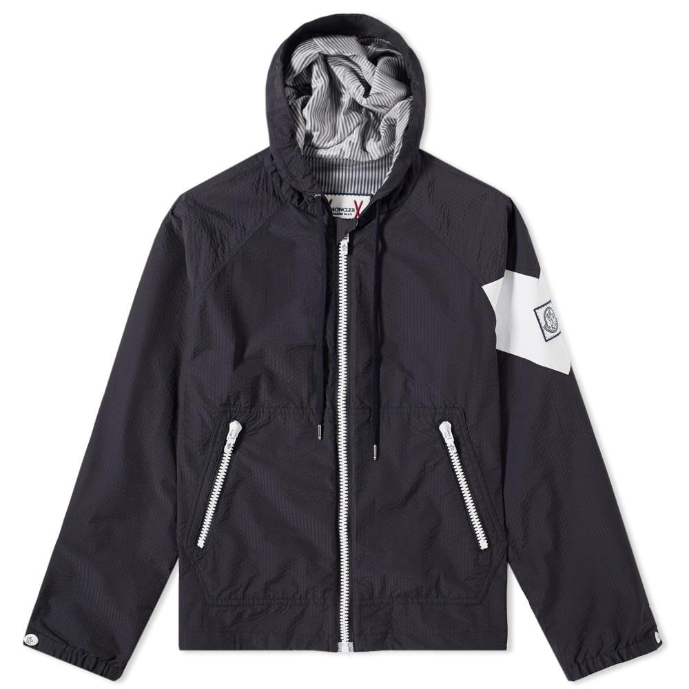 Moncler Gamme Bleu Seersucker Hooded Jacket