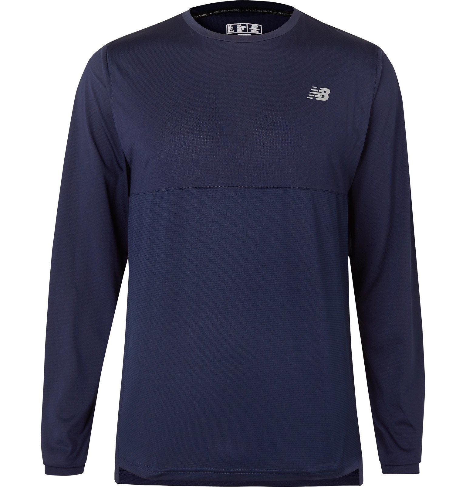 Photo: New Balance - Accelerate Stretch-Jersey T-Shirt - Blue