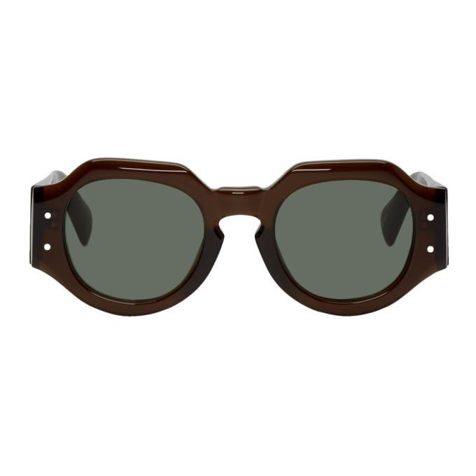 Photo: Dries Van Noten Brown Linda Farrow Edition 174 C4 Sunglasses