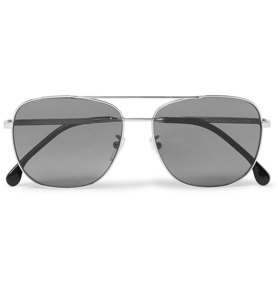 Photo: Paul Smith - Aviator-Style Silver-Tone Sunglasses - Silver