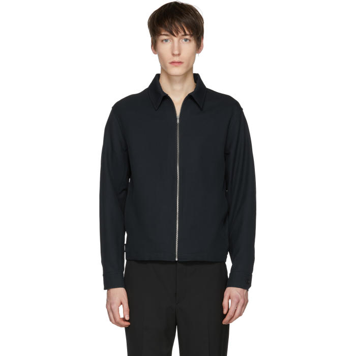 Photo: Lemaire Navy Wool Zip Jacket