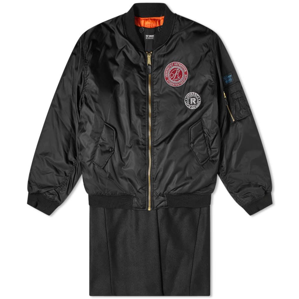 Raf Simons Archive Piece Detachable Long Bomber Jacket