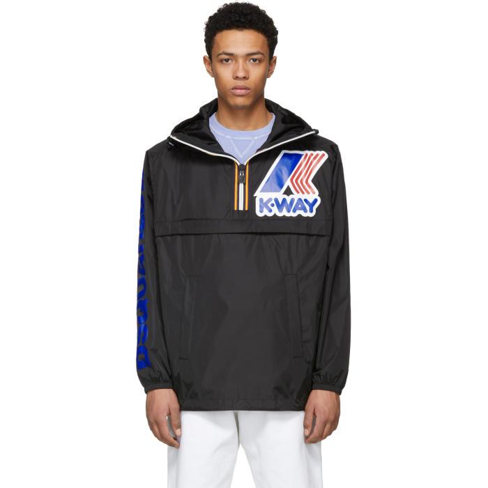 Photo: Dsquared2 Black K-Way Edition Zipped Jacket