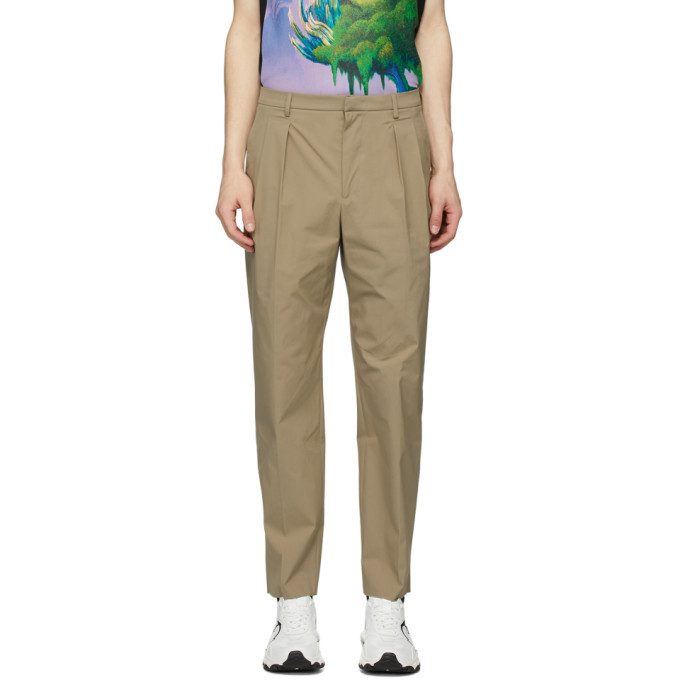 Photo: Valentino Beige Cotton Trousers