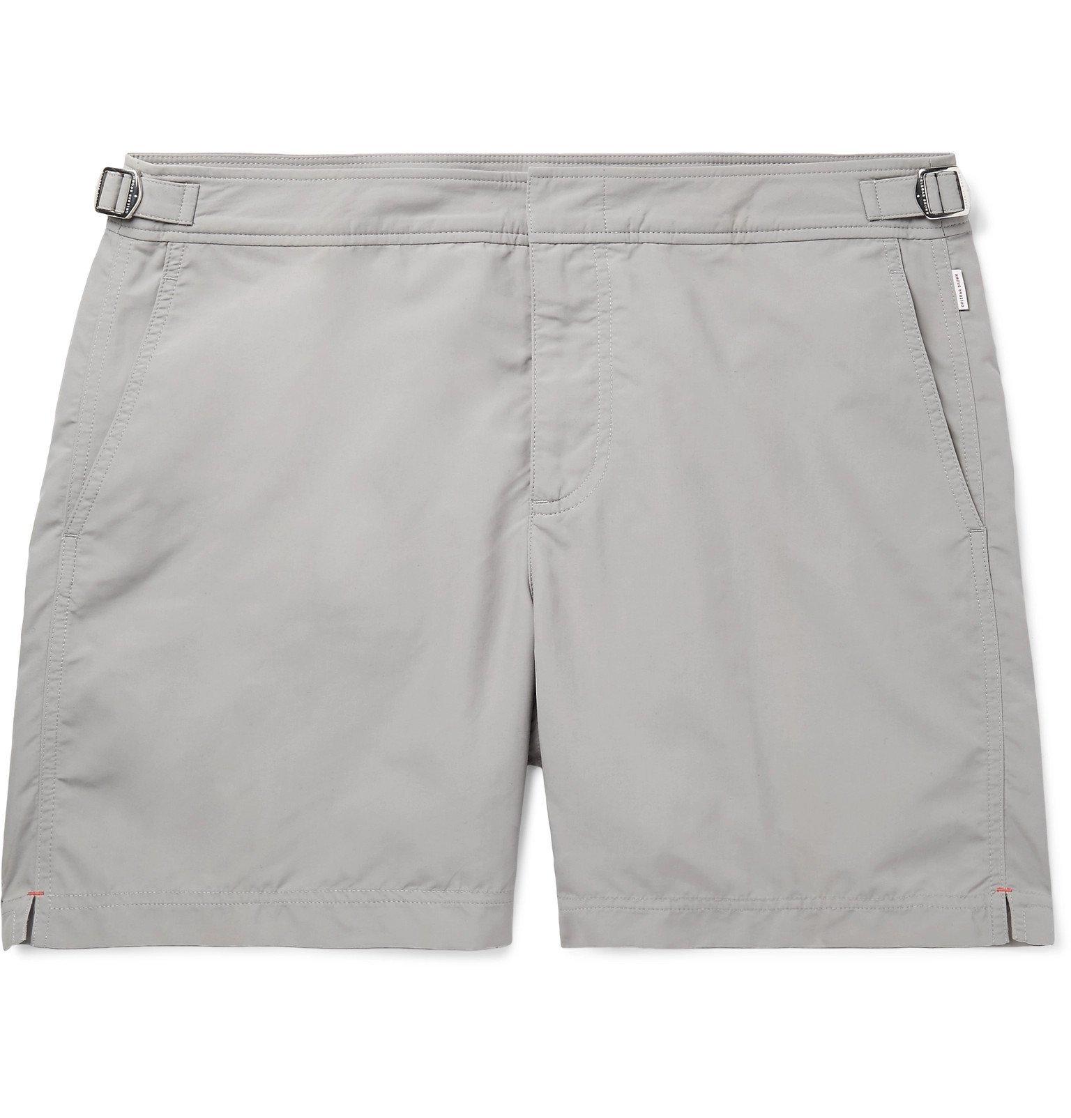 Photo: Orlebar Brown - Bulldog Mid-Length Swim Shorts - Gray