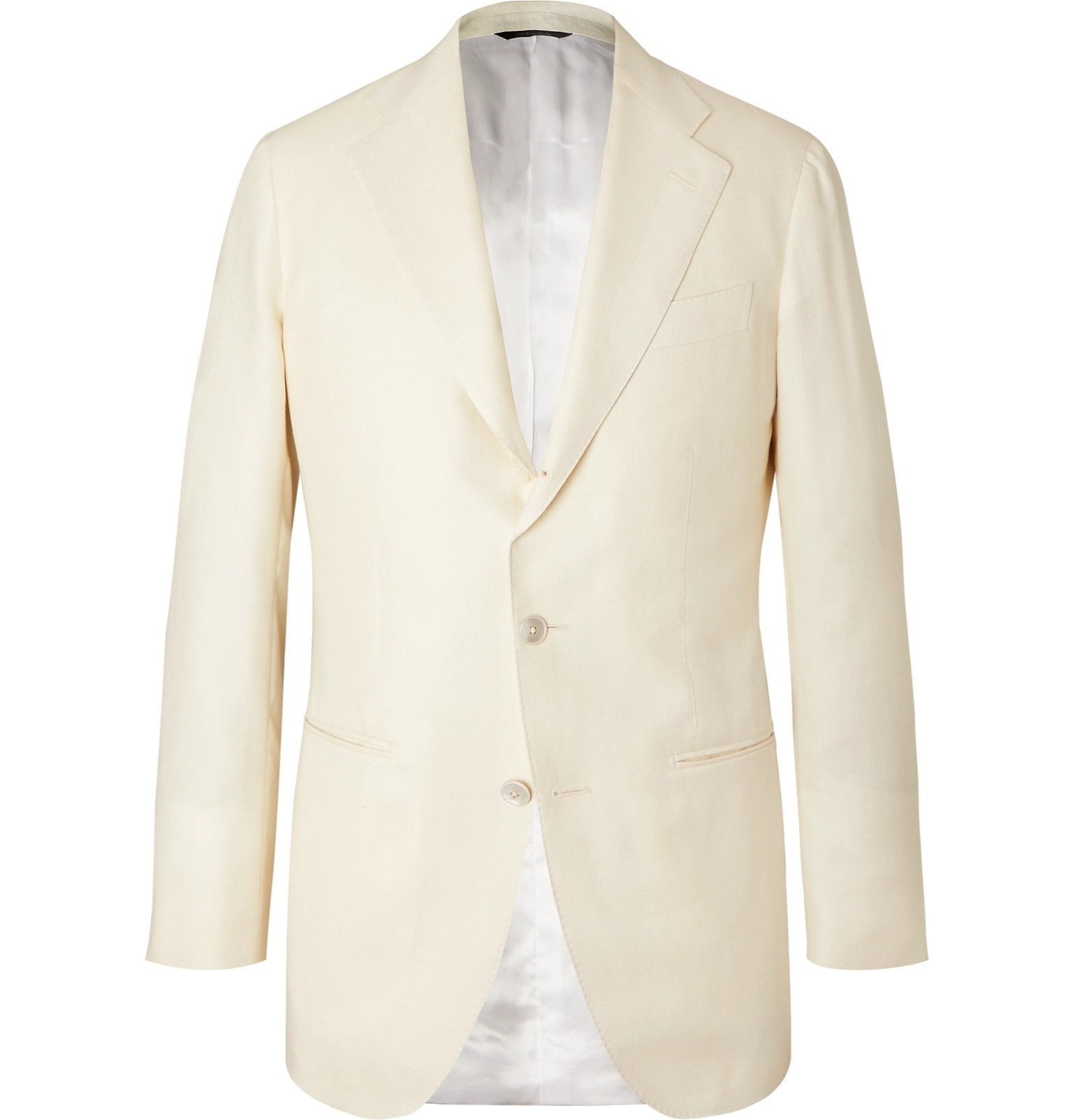 Photo: Saman Amel - Off-White Wool, Silk and Linen-Blend Twill Suit Jacket - Neutrals