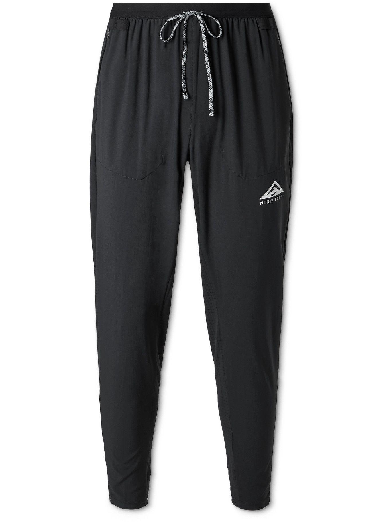 NIKE RUNNING - Phenom Elite Tapered Logo-Print Dri-FIT Flex Track Pants - Black