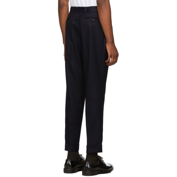Officine Generale Navy Flannel Pierre Trousers