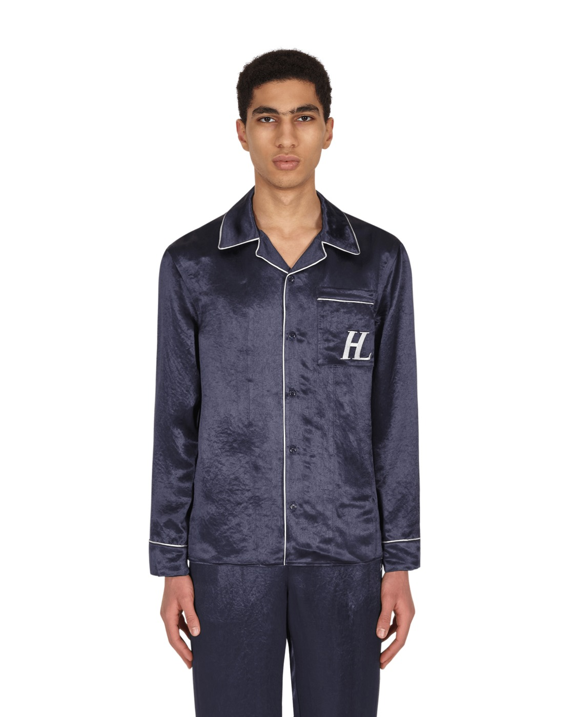 Photo: Helmut Lang Pajama Shirt Admiral Blue