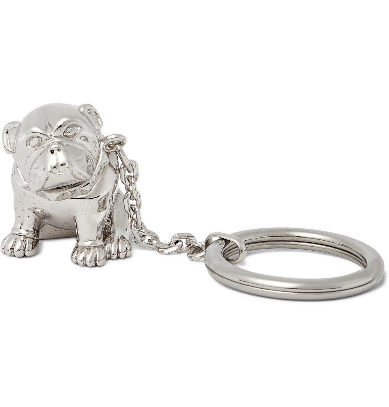 DUNHILL - Bulldog Palladium-Plated Key Fob - Silver