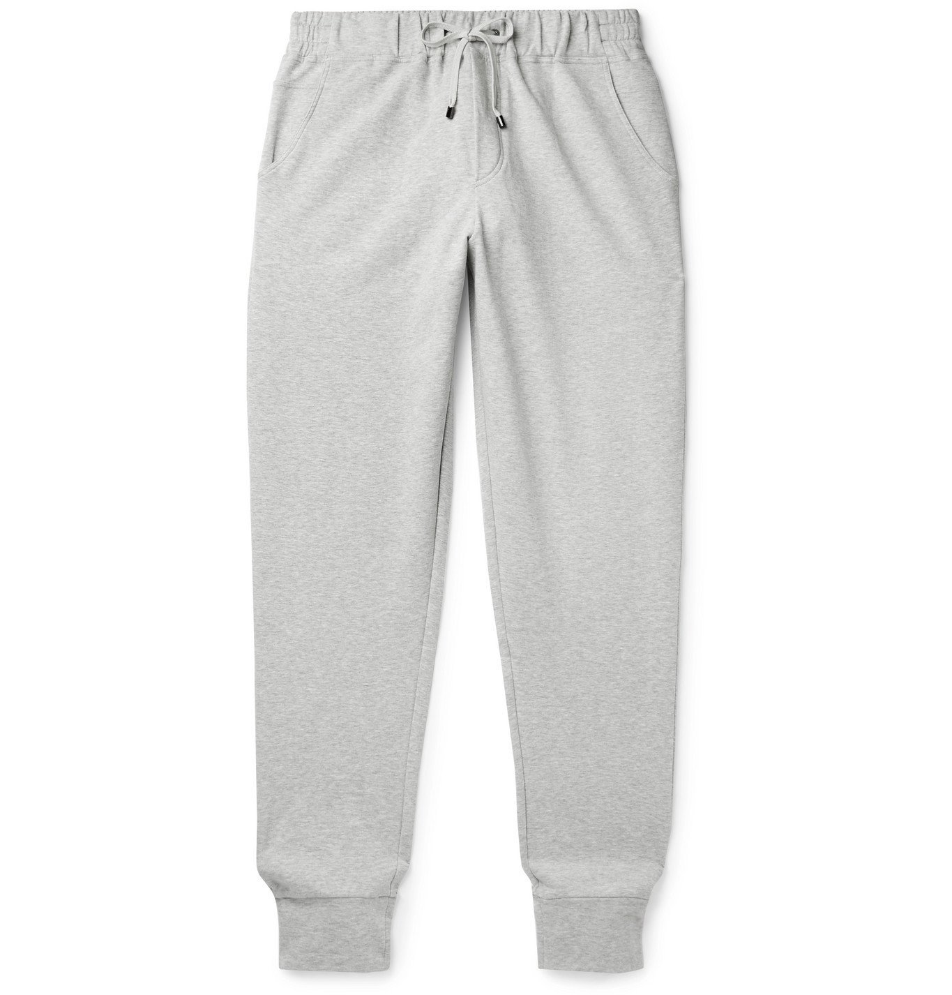 Photo: Zimmerli - Tapered Fleece-Back Stretch-Cotton Sweatpants - Gray