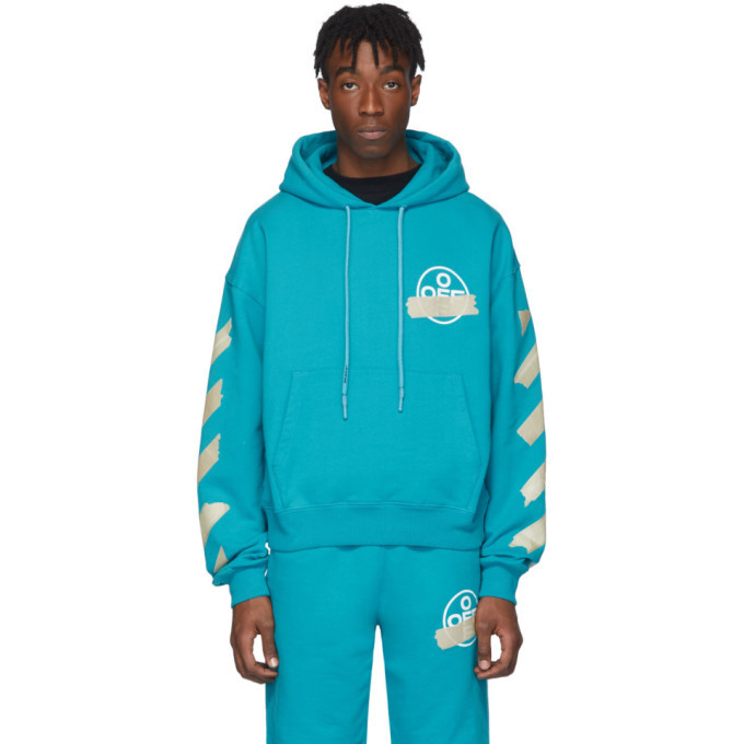 Photo: Off-White Blue Tape Arrows Hoodie