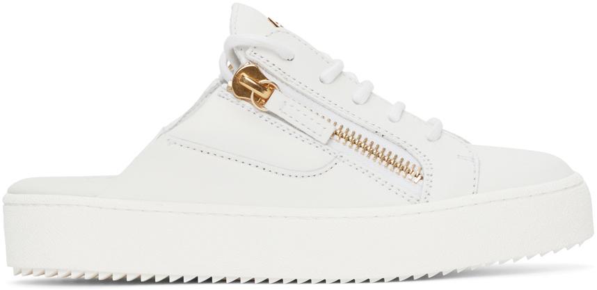 Photo: Giuseppe Zanotti White Slip-On Gail Sneakers