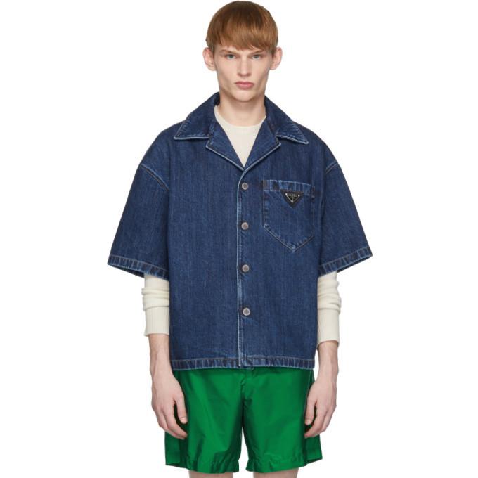 Photo: Prada Blue Denim Vintage Used Shirt