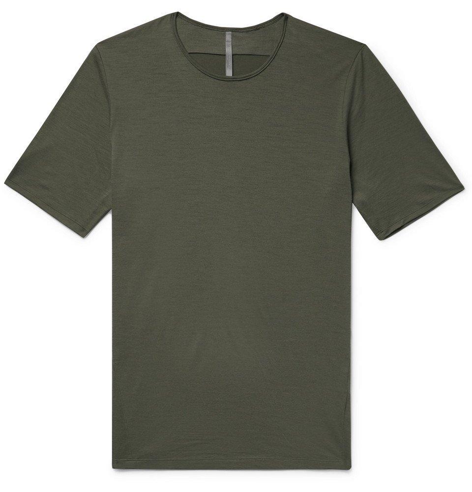 Photo: Arc'teryx Veilance - Frame Slub Wool-Jersey T-Shirt - Army green