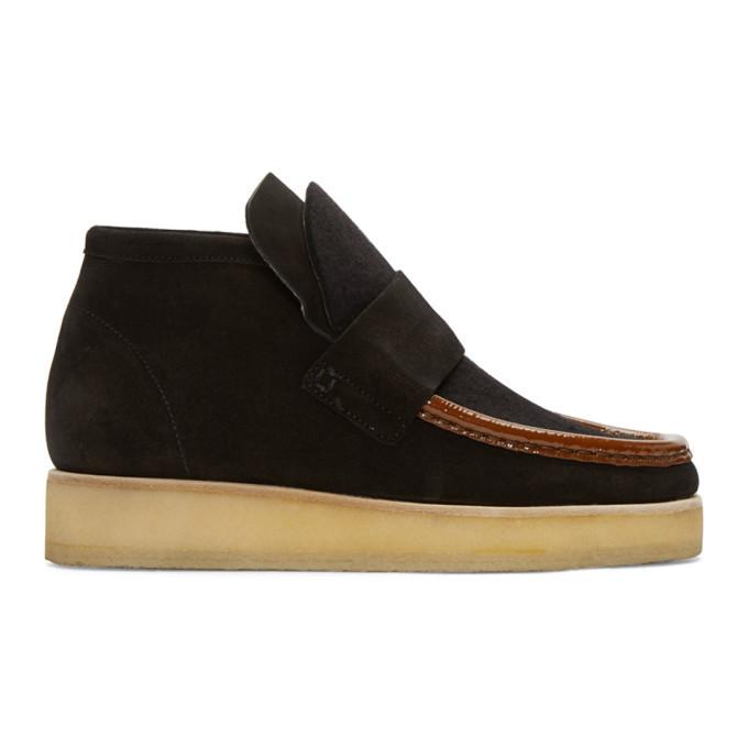 Acne Studios Black Suede Kingston Boots