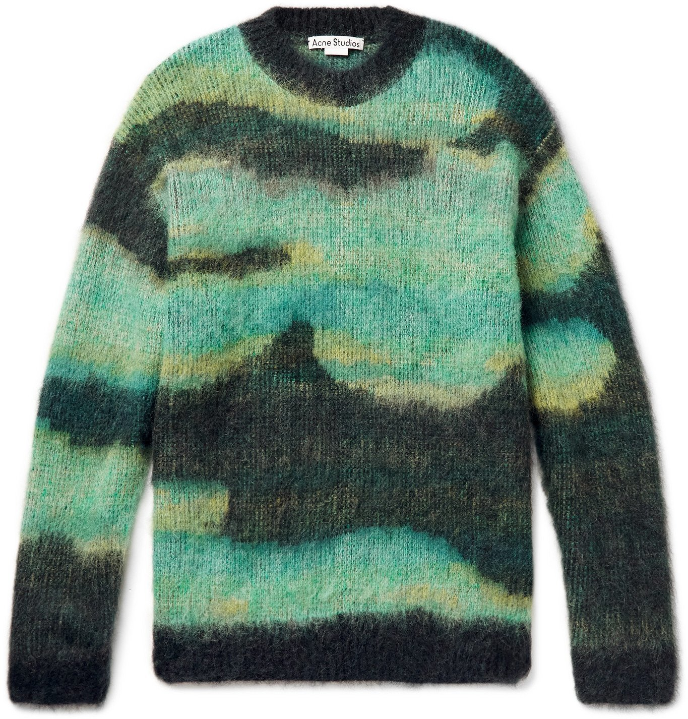 Photo: ACNE STUDIOS - Klinac Brushed Jacquard-Knit Sweater - Multi