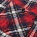 Sacai - Velvet-Trimmed Patchwork Checked Cotton-Flannel Shirt - Multi