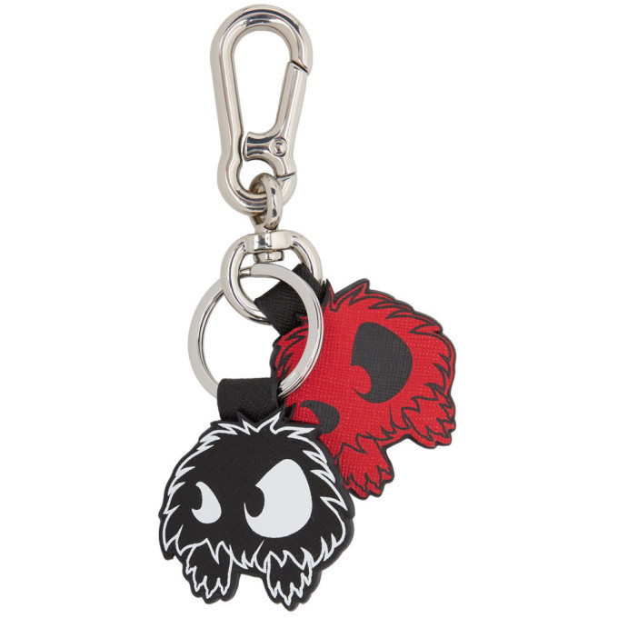 Photo: McQ Alexander McQueen Red and Black Monster Keychain