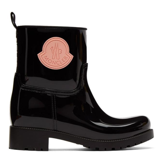 Photo: Moncler Black Rubber Ginette Boots
