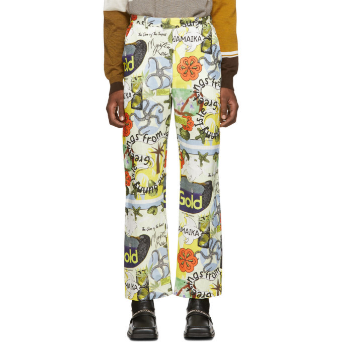 Martine Rose Multicolor Printed Linen Trousers