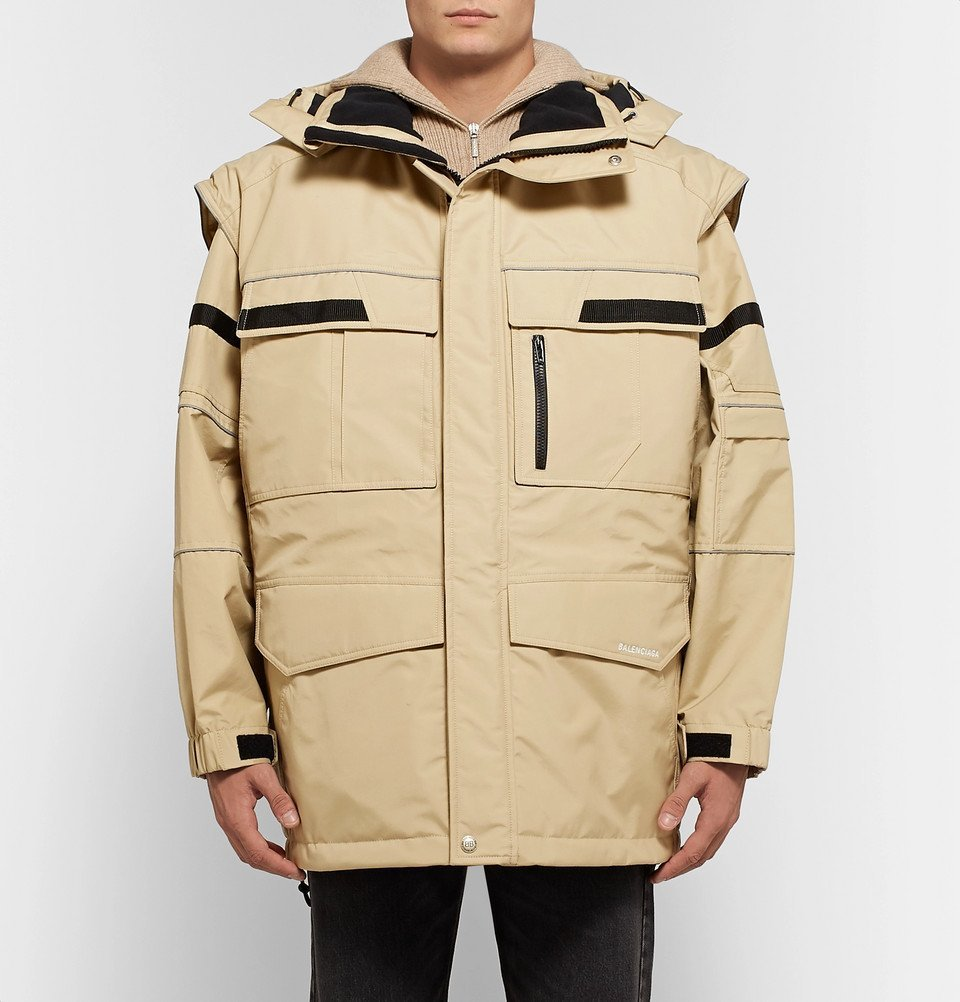 Oversized Convertible Wool Virgin Shell Balenciaga Hooded And q7wCCd
