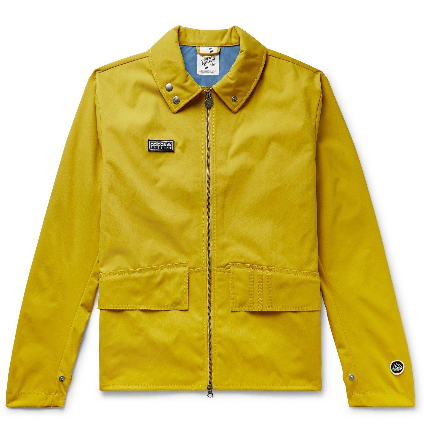 Photo: adidas Consortium - SPEZIAL Holbeck Logo-Appliquéd Canvas Jacket - Yellow