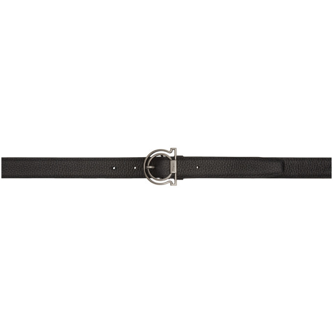 Photo: Salvatore Ferragamo Black Deerskin Gancini Belt