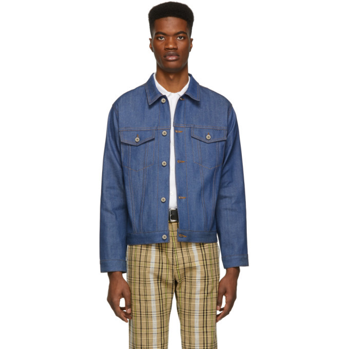 Photo: Naked and Famous Denim Blue Selvedge Denim Classic Fit Jacket