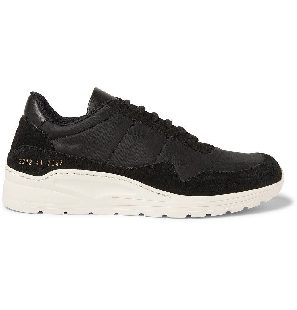 Photo: Common Projects - Cross Trainer Nylon and Suede Sneakers - Black