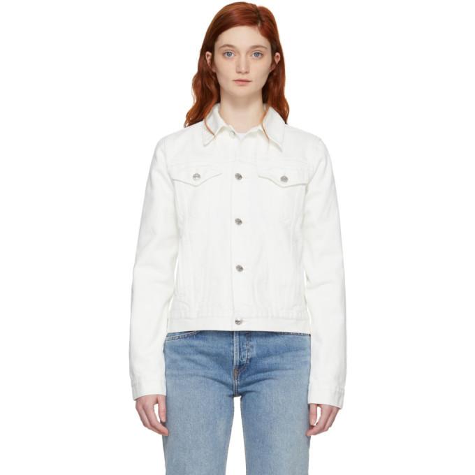 Photo: Helmut Lang White Square Shoulder Denim Jacket