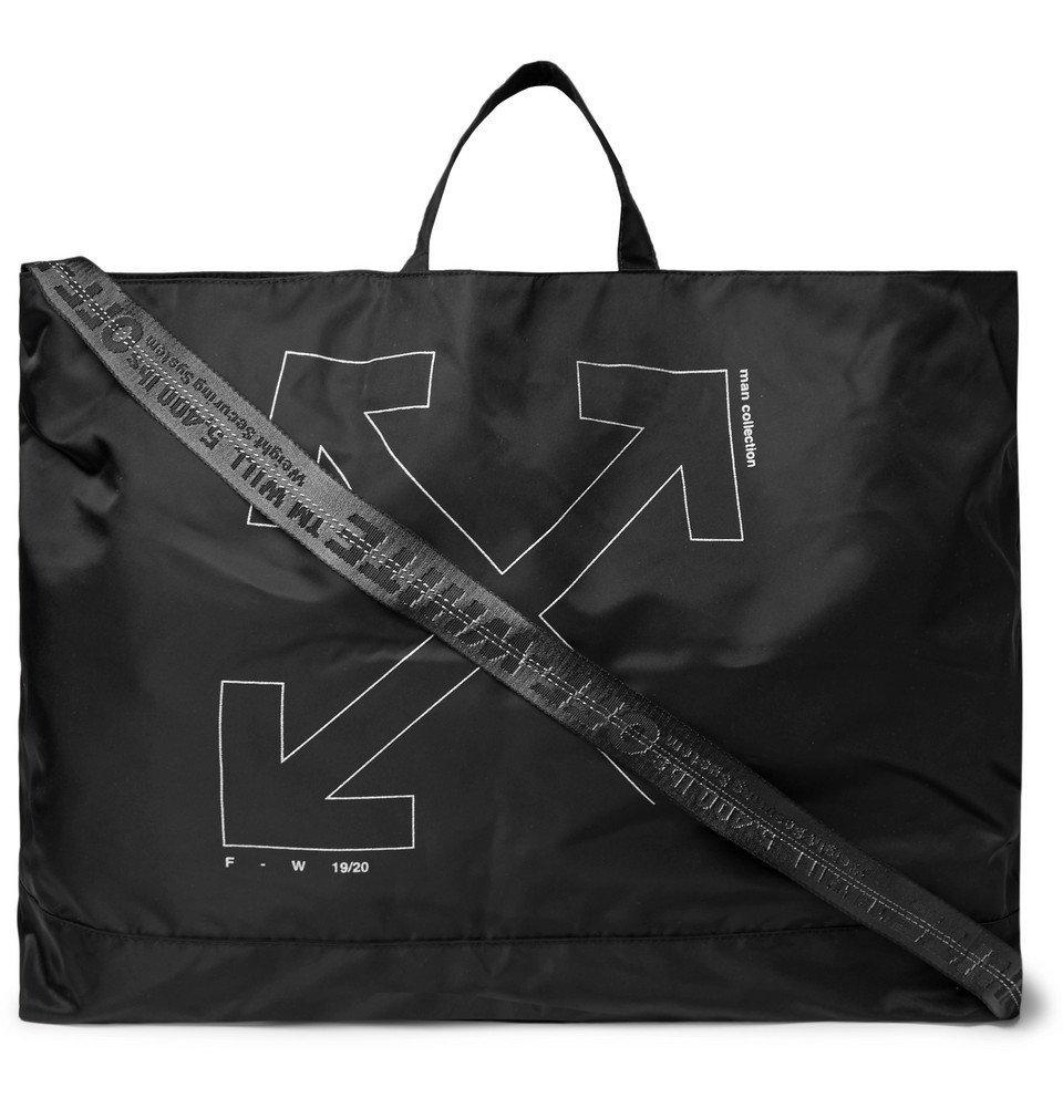 Photo: Off-White - Unfinished Logo-Print Shell Tote Bag - Black