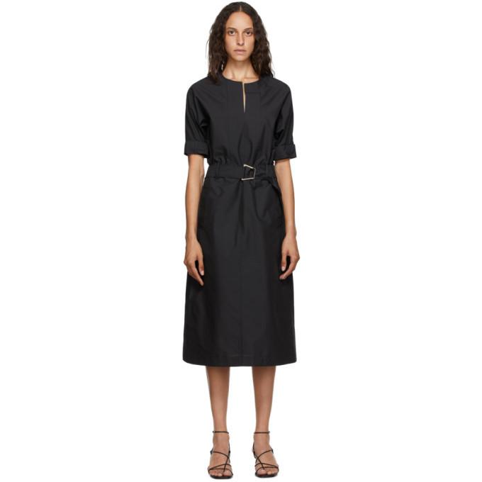 3.1 Phillip Lim Black Poplin Dolman Dress