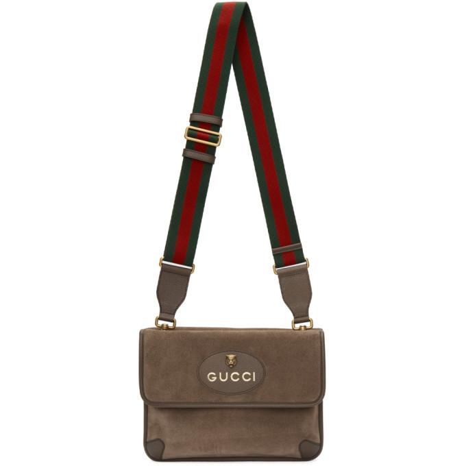 Photo: Gucci Beige Suede Neo Vintage Foldover Messenger Bag