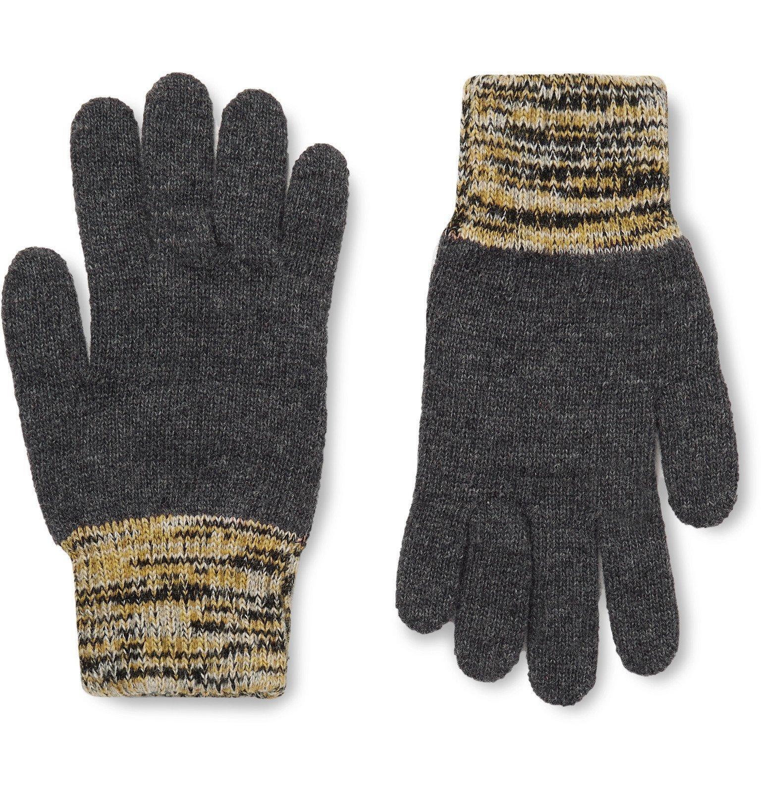 Photo: Oliver Spencer - Varley Mélange-Trimmed Wool-Blend Gloves - Gray