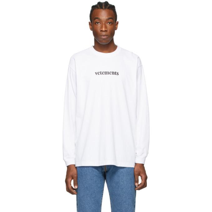 Photo: VETEMENTS White Logo Long Sleeve T-Shirt